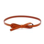 FSA015 Big Ribbon Thin Belt, Camel